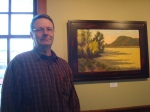 Mark Bistranin with his painting